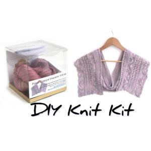 Flower Crescent Shawlette Knit Kit