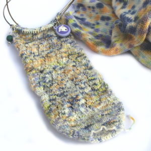 Dotty-sock-knitting