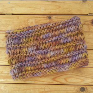 Ridged Cowl - a free pattern with each skein of Chunky Merino Chainette yarn
