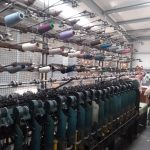 Wool plying machine at John Arbon Textiles