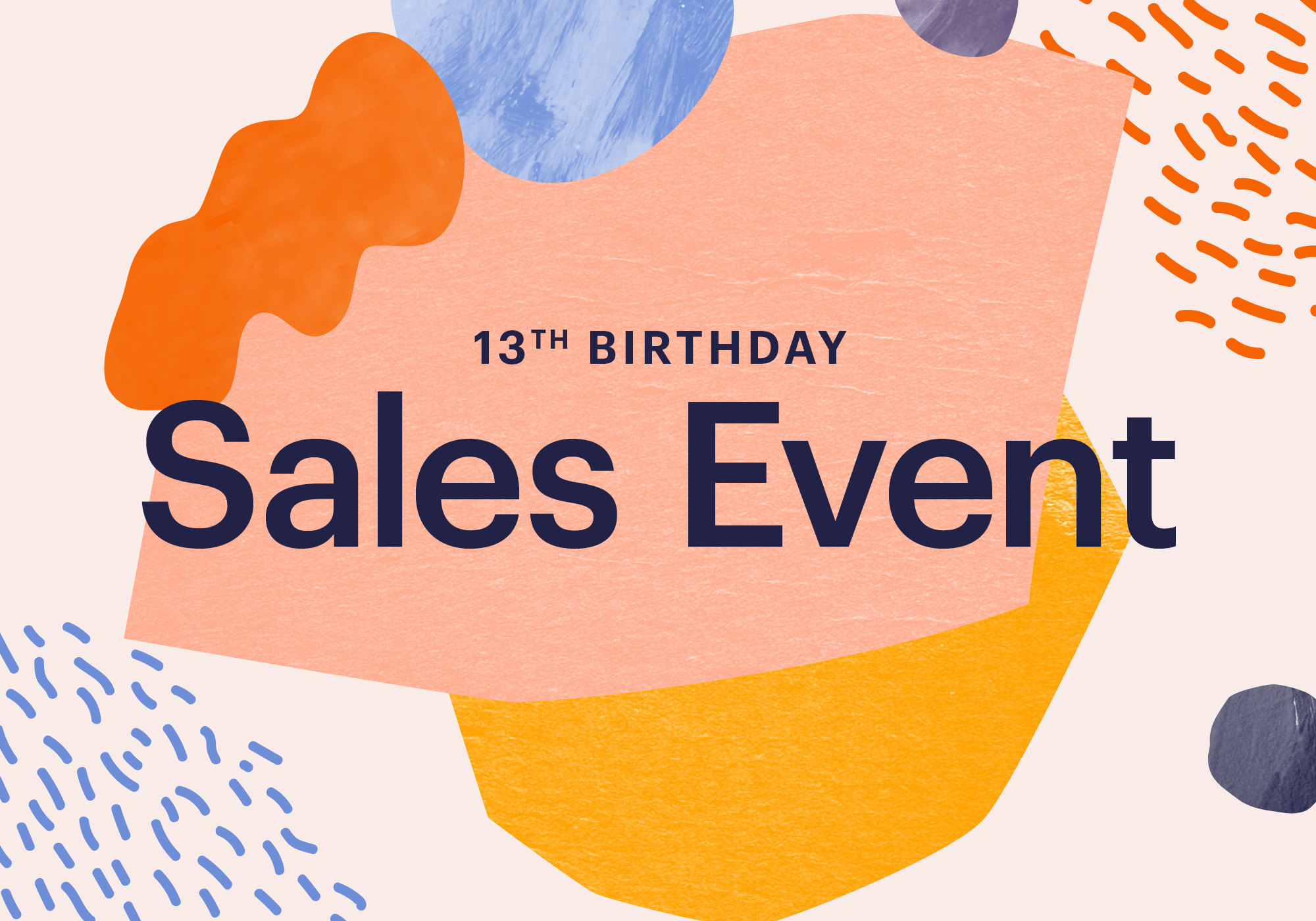 etsy 13th birthday sale