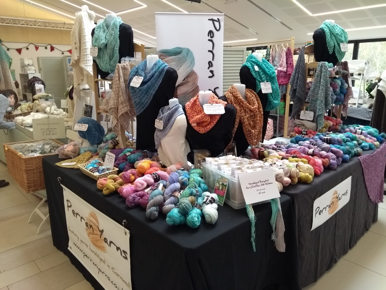 Perran Yarns at RHS Garden Rosemoor Wool & Yarn Fest April 2019