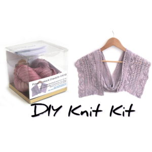 Flower Crescent Shawlette Knit Kit