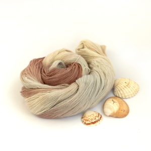 Lace Merino Silk with Silver Sparkle in She Sells Seashells