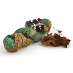 4ply Silk Baby Camel in shade Deep Forest