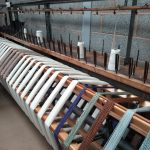 Skein winding machine at John Arbon Textiles