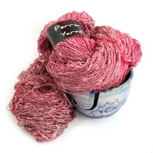 4ply Cotton Boucle in shade Cherry Pie