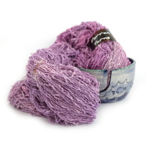 Cotton boucle yarn handdyed in shade Lavender