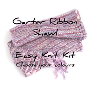 Garter Ribbon Shawl Knit Kit