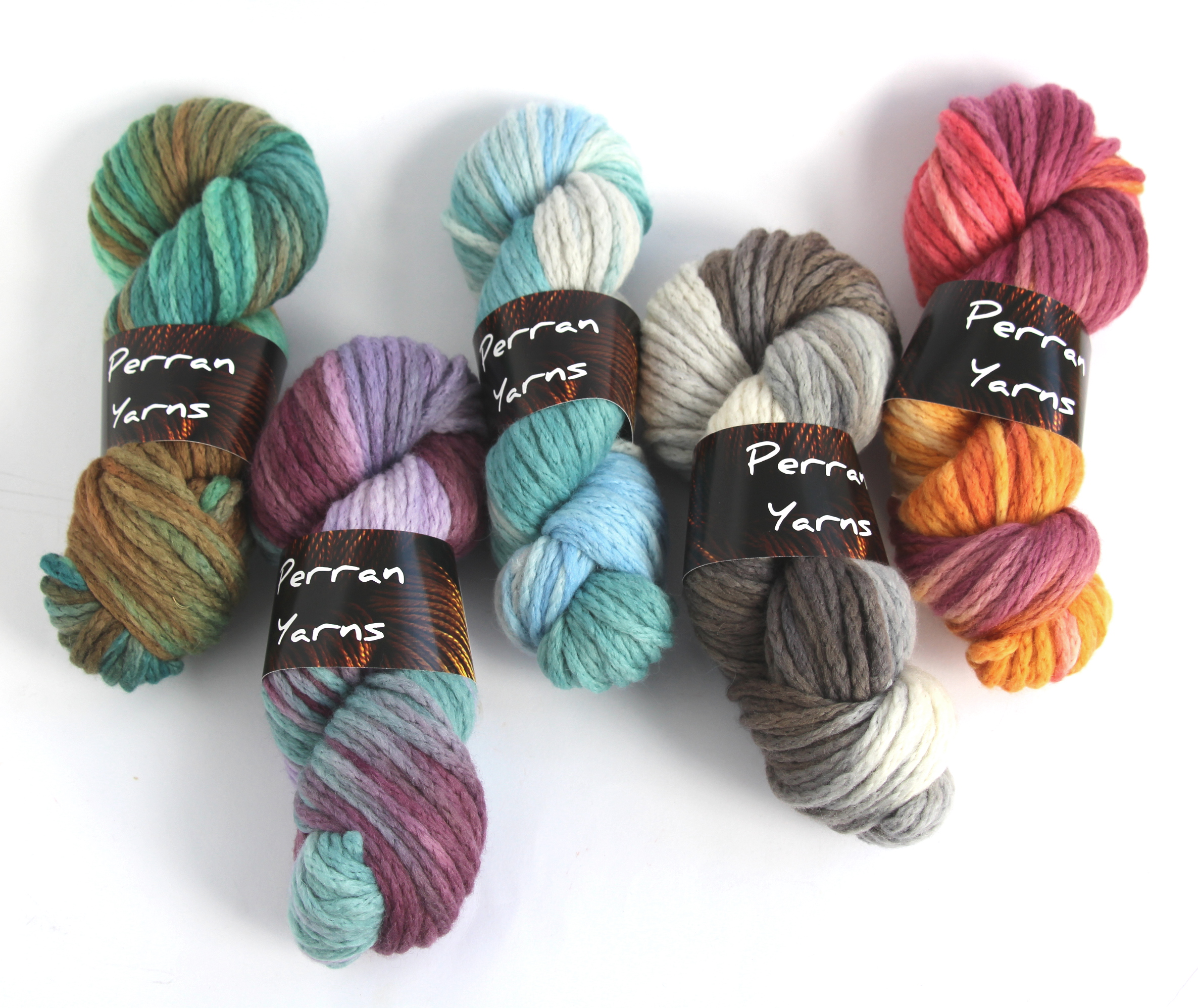 Superchunky Merino Chainette colours available at Laughing Hens this month!
