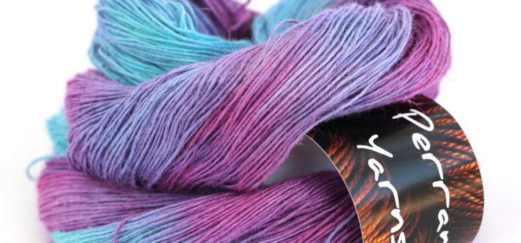 4ply linen bamboo vegan yarn in shade Berry Pop