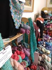 Perran Yarns stall at Woolly Weekend, October 2019