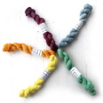 4ply Platinum mini skeins in various colourways