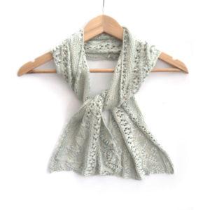 Flower Row Crescent Shawlette Knit Kit