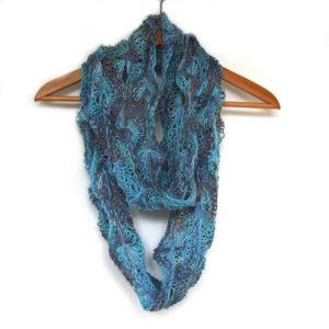 Flowery Infinity Scarf Knit Kit