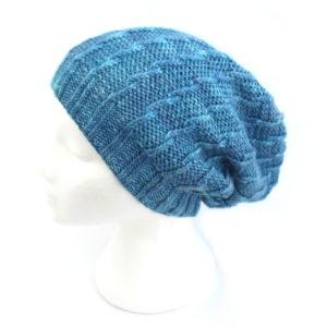 Slouchie Twist Beanie Hat Knit Kit