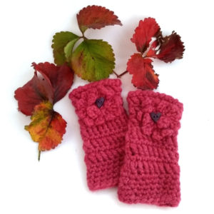Textured Crochet Fingerless Mitts Crochet Kit