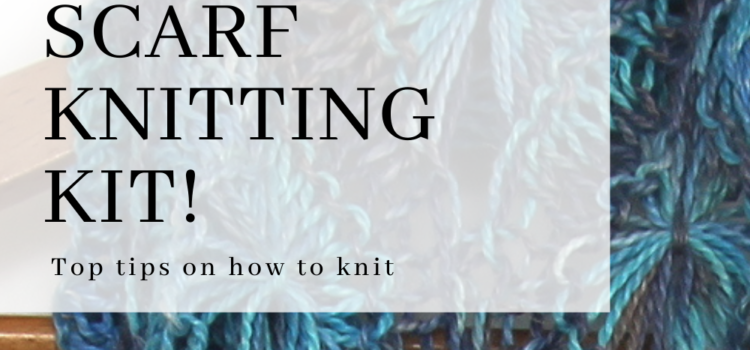 Flowery Infinity Scarf knitting pattern tips