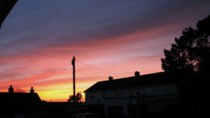 Home sunset view