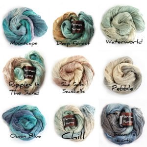 4ply Silk Seacell colours (cool)