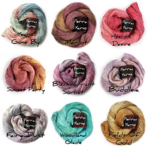 4ply Silk Seacell colours (warm)