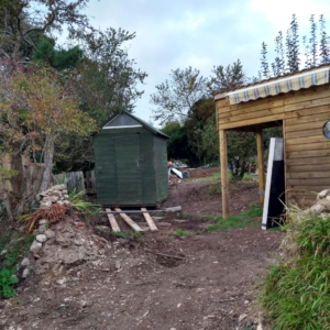 Moving a garden shed on rollers