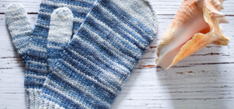 White Horses Mittens knit kit
